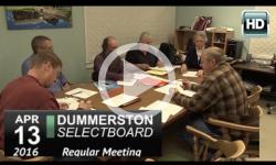 Dummerston Selectboard Mtg 4/13/16