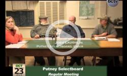 Putney Selectboard Mtg. 10/23/13
