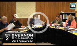 Vernon Selectboard Mtg 11/2/15