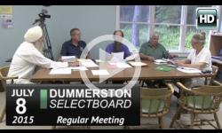 Dummerston Selectboard Mtg 7/8/15