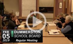 Dummerston School Bd Mtg 2/5/19