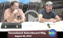 Townshend Selectboard Mtg. 8/20/12