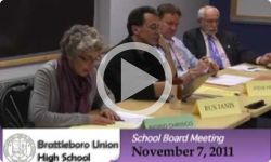 Brattleboro Union High School Board Mtg. 11/7/11