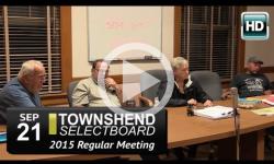 Townshend Selectboard Mtg: 9/21/15