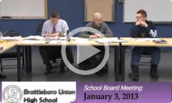 Brattleboro Union High School Bd. Mtg. 1/3/12