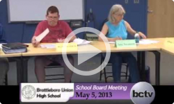 Brattleboro Union High School Bd. Mtg. 5/6/13