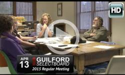 Guilford Selectboard Mtg 4/13/15