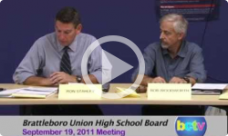 Brattleboro Union High School Board Mtg. 9/19/11
