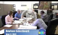 Newfane Selectboard Mtg. 5/17/2012