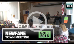 2016 Newfane Town Meeting 3/1/16