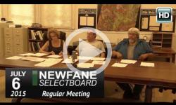 Newfane Selectboard Mtg 7/6/15