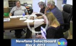 Newfane Selectboard Mtg 5/2/13