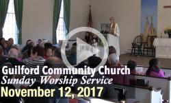 Guilford Church Service - 11/12/17