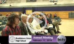 Brattleboro Union High School Annual Bd. Mtg. 2/11/14