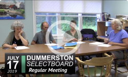 Dummerston Selectboard Mtg 7/17/2019