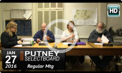 Putney Selectboard 1/27/16