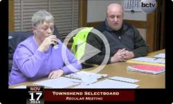 Townshend Selectboard Meeting 11/17/14