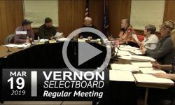 Vernon Selectboard Mtg 3/19/19