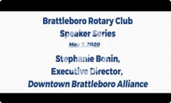 Brattleboro Rotary Club Speaker Series: Stephanie Bonin 5/7/20
