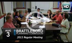 Brattleboro Planing Commission Mtg 8/3/15