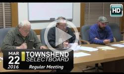 Townshend Selectboard Mtg 3/22/16