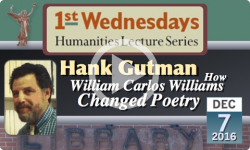 1st Wednesdays presents: How William Carlos Williams changed poetry