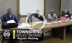 Townshend Selectboard Mtg 10/9/18