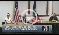Brattleboro Selectboard Candidates Forum 2/23/17