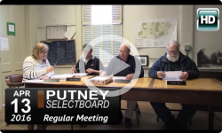 Putney Selectboard 4/13/16