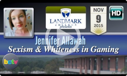 Landmark College presents: Jennifer Allaway, 'Sexism & Whiteness in Gaming' 11/9/15