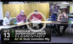WCSU Elementary Act 46 Mtg 10/13/16