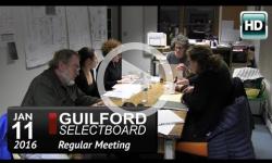Guilford Selectboard Mtg 1/11/16