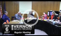 Vernon Selectboard Mtg 2/6/17