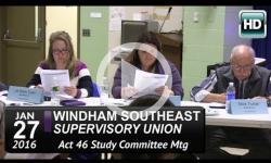 WSESU Act 46 Study Mtg. 1/27/16