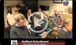 Guilford Selectboard Special Mtg 10/29/14