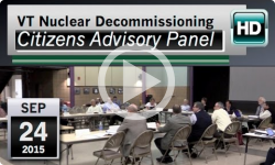 VT Nuclear Decommissioning Citizens Advisory Panel: 9/24/15