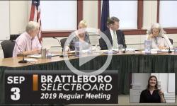 Brattleboro Selectboard Mtg 9/3/19