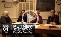 Putney Selectboard Mtg 12/4/19