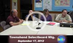 Townshend Selectboard Mtg. 9/17/12