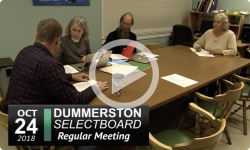 Dummerston Selectboard Mtg 10/24/18