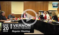 Vernon Selectboard Mtg 6/20/16