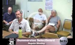 Dummerston SB Mtg. 8/21/13