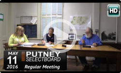 Putney Selectboard 5/11/16
