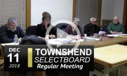 Townshend Selectboard Mtg 12/11/18