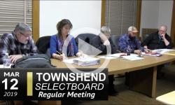 Townshend Selectboard Mtg 3/12/19