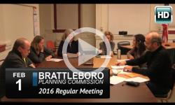 Brattleboro Planing Commission Mtg 2/1/16