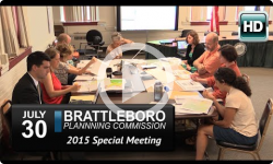 Brattleboro Planning Commission Special Mtg 7/30/15