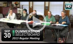 Dummerston Selectboard Mtg 9/30/15