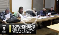 Townshend Selectboard Mtg 4/9/19