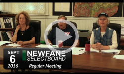 Newfane Selectboard Mtg 9/6/16
